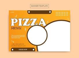 modelo de banner para negócios alimentícios vetor