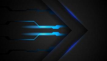 movimento de seta futurista abstrato com fundo de luz azul brilhante