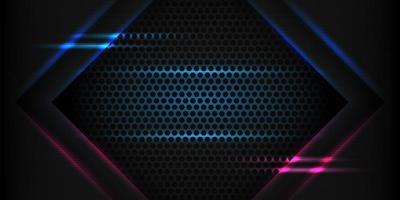 movimento de seta futurista abstrato com fundo de luz azul brilhante. vetor