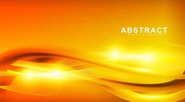 fundo abstrato do vetor. ondas douradas com luz amarela. design para qualquer plano de fundo