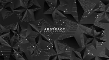 espaço poligonal abstrato de um fundo poli escuro baixo com pontos e linhas de conexão. estrutura de conexão. ilustração de desenho vetorial 3D vetor