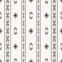 padrão étnico sem costura com formas geométricas vetor