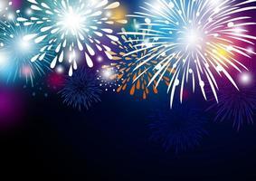 fundo colorido abstrato de fogos de artifício vetor