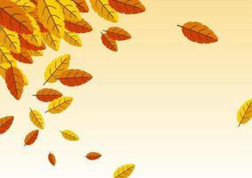 desenho de fundo de outono vetor