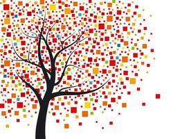 desenho de árvore de mosaico