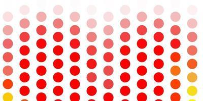 modelo de vetor laranja claro com círculos.