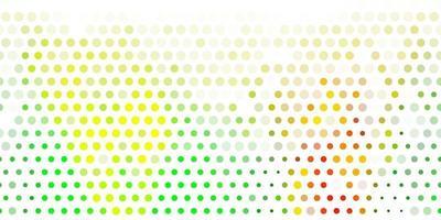 de fundo vector verde e amarelo claro com bolhas.