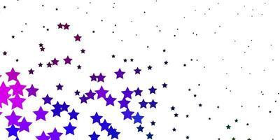 textura de vetor multicolorido escuro com belas estrelas.