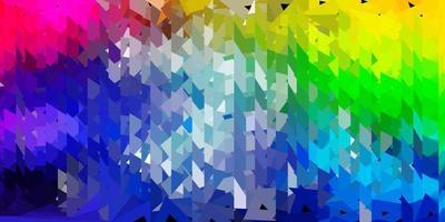 papel de parede de mosaico luz multicolorido vetor triângulo.