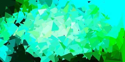 layout de triângulo poli vetor azul claro e verde.