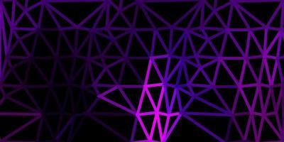 cenário de mosaico de triângulo de vetor rosa escuro.