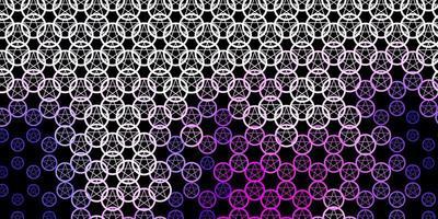 textura vector roxo escuro com símbolos de religião.