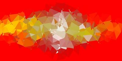 layout de triângulo poli vetor laranja claro.