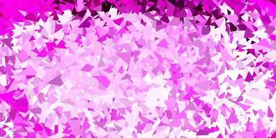 papel de parede de mosaico de triângulo de vetor rosa claro.