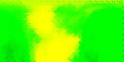 papel de parede polígono gradiente de vetor verde claro e amarelo.