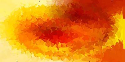 textura de polígono gradiente de vetor laranja claro.