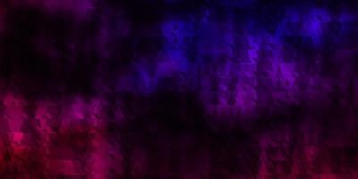textura vector rosa escuro, azul com linhas, triângulos.