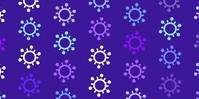 textura vector rosa, azul claro com símbolos de doença.