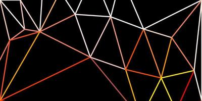 pano de fundo do mosaico do triângulo do vetor laranja claro.