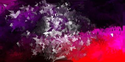 fundo do mosaico do triângulo do vetor roxo e rosa escuro.