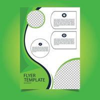 design de modelo de folheto de anúncio comercial vetor