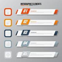 Infográfico de negócios - banner de modelo de 5 etapas