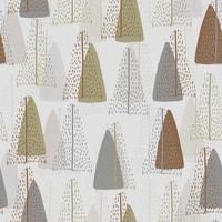 Seamless pattern background com mão desenhada bonito pinheiro