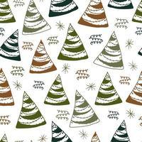 Seamless pattern background com doodle pinheiro