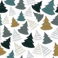 Seamless pattern background com doodle mão desenhar pinheiro