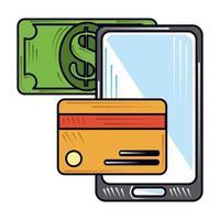 pagamento online novo normal após coronavírus covid 19 vetor