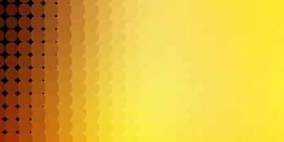 layout de vetor laranja claro com formas de círculo.