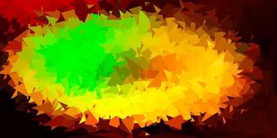 layout poligonal geométrico do vetor verde e amarelo claro.