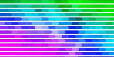 layout de vetor multicolor de luz com linhas.