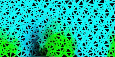 layout poligonal geométrico do vetor azul claro e verde.