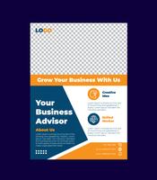 design de modelo de folheto de negócios criativo vetor