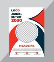 modelo de design de capa de relatório anual vetor