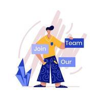 junte-se ao nosso time ilustração