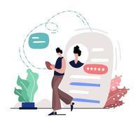 ilustração de presença online