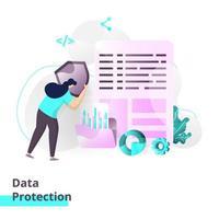 modelo de página de destino de proteção de dados