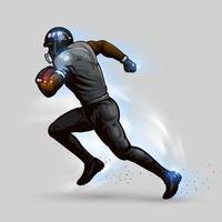 jogador de futebol americano correndo