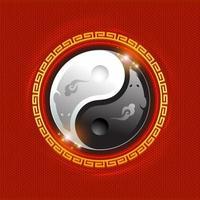 ratos como um símbolo yin-yang vetor