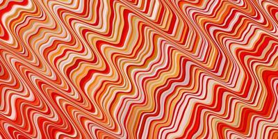 textura vector laranja claro com curvas.