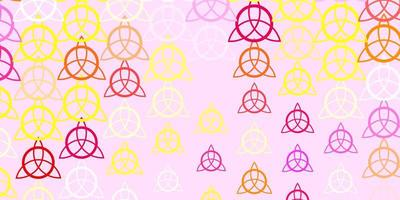 modelo de vetor roxo claro com sinais esotéricos.