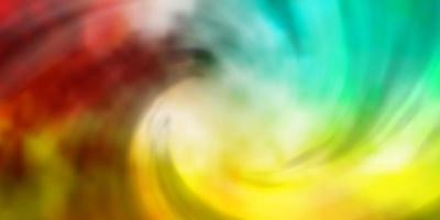 luz de fundo multicolor vector com cúmulos.