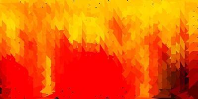 layout poligonal geométrico do vetor laranja escuro.
