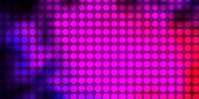 modelo de vetor rosa escuro, azul com círculos.