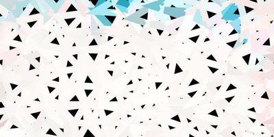 textura de triângulo poli luz rosa, verde vetor.