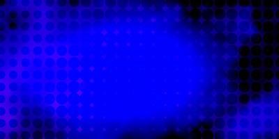 layout de vetor de luz roxa com círculos.