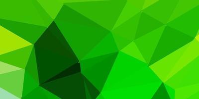 layout de polígono gradiente de vetor verde claro e amarelo.