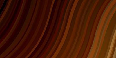 layout de vetor de laranja escuro com linhas irônicas.